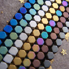 Hot 2-4mm Gold Silver Rainbow Green Blue matte Faceted Hematite Stone Cube Beads