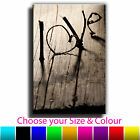Vintage Love Single Canvas Wall Art Picture Print 12O