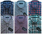 Mens Short Sleeve Summer Yarn Dyed PolyCotton Check Shirt M - 3XL By Tom Hagan