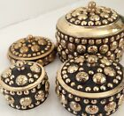 TRINKET BOX SINDOOR DIBBI TRADITIONAL ANTIQUE BRASS BEAUTIFUL JEWELRY JEWELLERY