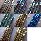 Hot 2-4mm Gold Silver Copper Green Blue Gunmetal Faceted Hematite Cube Beads
