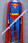 Superman Christopher Reeve Cosplay Costume Jumpsuit Halloween Party Suitable