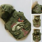 Army Military Uniform Dog Coat Warm Jacket Pet Apparel Dog Clothes XS S M L XL