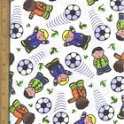 Boys and ball Crafting, Quilting Cotton Fabric CHOICE YOUR LENGTH