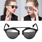 So Real Outdoor Fashion Sunglasses Christian Designer Cat Eye Linear Mirror Lens