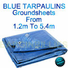 New Blue Waterproof Tarpaulin Groundsheet Fishing Camping Tents Bivvy Heavy Duty