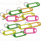 Key Tags Assorted Colours Plastic Tags For Keys ID Labels Name Fob Key Sort