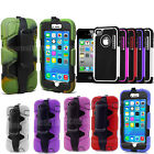 Heavy Duty Builders Case ShockProof Cover For Apple iPhone Various Models