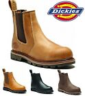 MENS DICKIES FIFE LEATHER DEALER SAFETY WORK STEEL TOE CAP SHOE CHELSEA BOOTS SZ