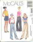 McCall's 3692 Girls' Tops, Drawstring Pants and Shorts 7, 8, 10 Sewing Pattern