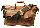 Will Leather Goods Canvas & Leather Traveler Carry On Duffle Bag 31036