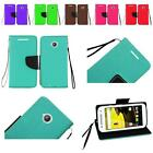 WHOLESALE For Moto E LTE 2015 2nd Generation Premium Leather Wallet Cover Case