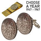 60TH BIRTHDAY NEW GIFT 1958 LUCKY SIXPENCE COIN & 60 CHARM KEYRING SPLIT RING