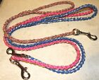 550 PARACORD LEASHES 2' to 8'  CAN BE USED  WITH OR WITHOUT A COLLAR