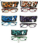 LADIES LEOPARD PRINT READING GLASSES BY LESSER & PAVEY -   STYLE - LP26125