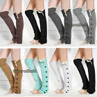 Warm Women Winter Crochet Knitted Stocking Leg Warmers Lace Trim Legging Socks