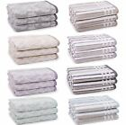 Madira Demask Or Striped Supersoft Luxury Combed Cotton Bathroom Towels