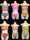 Sand N Sun Girls Swimsuits Bathing Suits YOUR CHOICE Stripe Floral 14-16,12,10