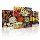 FOOD & DRINK SPICE PEPPER Canvas Framed Printed Wall Art 74 ~ 4 Panels