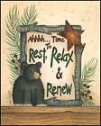"""ART PRINT, FRAMED OR PLAQUE - """"TIME TO REST"""" BY LINDA SPIVEY - LS675"""