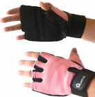 Pro Leather Ladies Mesh GEL Gloves Gym Women Wear Exercise Workout Cycling