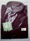 CRAGHOPPERS KIWI MERLOT RED LONG SLEEVE ADVENTURE TRAVEL OUTDOORS WALKING SHIRT