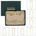 Foster USA Tie Chain Mens Engraveable Button Hole Attachement Choose Chain & Col