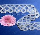 "5 Yards Lace Trim White Scroll 7/8"" Scalloped N69AV Added Items Ship No Charge"
