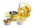 New Thermos Insulated Lunch Box with Carry Tote Bag Kids School Picnic Container