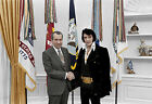 Elvis Presley Richard Nixon The King of Rock and Roll President color photo
