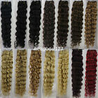 "More Color 18""20""22""26"" Remy Curly Deep Weft Human Hair  Extensions Weave 100g"