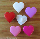 6 - Novelty Buttons - Heart #2 - 14mm - Baby/Kids/Dolls - Knitting/Sewing/Cards