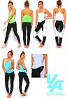 Women's Sports Activewear Workout Gym Summer Yoga Set Stretch Top Bottom