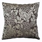 Ng20a Dark Brown Tan Flower Thick Linen Cushion Cover/Pillow Case Custom size