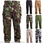 MENS ARMY COMBAT TROUSERS RIPSTOP 30-44 CAMO BDU CARGO PANT WORKWEAR HIKING