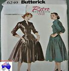 BUTTERICK Retro 50s Rockabilly Full Skirt Dress SEWING PATTERN 6240