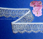 "5 Yds Lace Trim Silver Scalloped 1-1/8"" Scroll 021AV Added Items Ship No Charge"