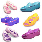 Girls Crocs Carlie Flat Girls Synthetic Peep Toe Slip On Shoes