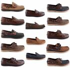 NEW MENS LEATHER NUBUCK LACE UP SLIP ON DECK BOAT MOCCASINS SHOES UK SIZES