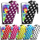 Polka Dots Flip Leather Case Cover Pouch For HTC Desire Phones Various Model