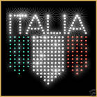 ITALIA T SHIRT Rhinestones Mens Ladies Football Rugby Fans Top Italy Flag Bling