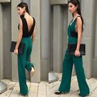 ZARA NEW COLLECTION 2015.GREEN EMERALD LONG JUMPSUIT PANTS. BLOGGERS.
