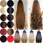 "24"" Straight Wavy one piece half full head clip in hair extensions Real Natural"
