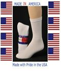 Men extra large king size Solid White cotton Athletic crew sock size 13-15