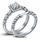 Simulated Diamond White Gold Fn 925 Silver Disney Princess Engagement Ring