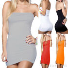 Women Summer Sexy Strapless Cocktail Evening Party Bodycon Mini Dress 5 Colors