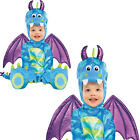 Childrens Little Dragon Costume Amscan New Animal Fancy Dress Kids Onesie Outfit