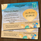 Personalised Beach Wedding Save the Dates & Envelopes *Seaside Postcard