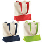 New Womens BagBase Zippered Main Compartment Webbing Carry Handle Tote One Size