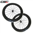 700C 25mm Width Carbon Road Cycling Wheel 80mm Clincher Alloy Brake Surface